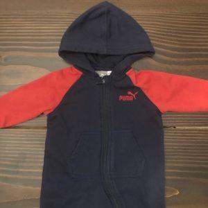 3-6 Month PUMA Baby Boy Hooded Zip Up Romper